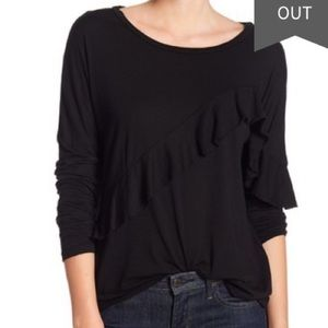 Nordstrom's Michael Stars Ruffle front Top New